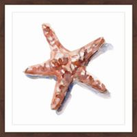 Marmont Hill Starfish Shadow 18-Inch Square Framed Wall Art