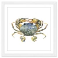 Marmont Hill Blue Crab 18-Inch Square Framed Wall Art