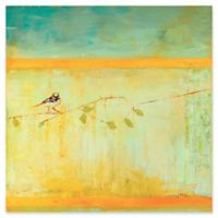 Metal Art Studio Bird Horizontal Stripes 22-Inch Square Metal Wall Art