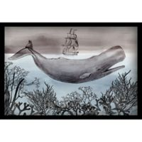 Marmont Hill Whale Under 16-Inch x 24-Inch Shadow Box Wall Art