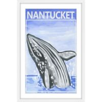"""Marmont Hill 40-Inch x 60-Inch """"Jumping Whale"""" Framed Wall Art"""