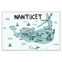 Marmont Hill Explore Nantucket 24-Inch x 16-Inch Canvas with Floater Frame
