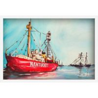 Marmont Hill Lightship of Nantucket 45-Inch x 30-Inch Framed Wall Art
