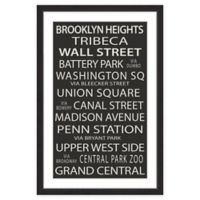 Marmont Hill NY Neighborhoods 40-Inch x 60-Inch Framed Print