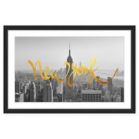 "Marmont Hill ""Golden New York"" 60-Inch x 30-Inch Print Wall Art"