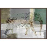 Parvez Taj Decorative Elephant 18-Inch x 12-Inch Canvas Wall Art with Floater Frame