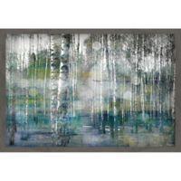 Parvez Taj Tree Trunk Lights 30-Inch x 20-Inch Framed Canvas Wall Art