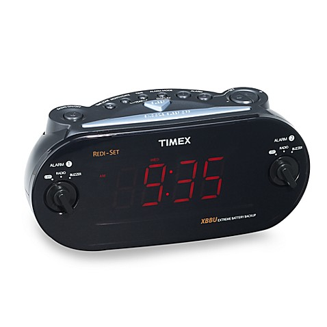 timex redi set dual alarm clock radio bed bath beyond. Black Bedroom Furniture Sets. Home Design Ideas
