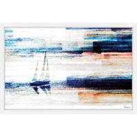 Parvez Taj Aegean Sea 36-Inch x 24-Inch Framed Wall Art