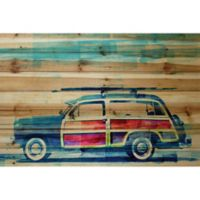 Parvez Taj Surf Day 36-Inch x 24-Inch Pinewood Wall Art