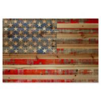Parvez Taj American Dream Pinewood 18-Inch x 12-Inch Pinewood Wall Art