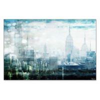 Parvez Taj Mid Town 24-Inch x 16-Inch Framed Canvas Wall Art