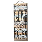 Sweet Bird and Co. Long Island, NY South Shore 12-Inch x 32-Inch Wood Sign in Blue