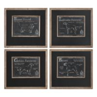 Uttermost Canis Lupus Familiarities Prints (Set of 4)