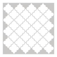 Quatrefoil Peel-and-Stick Backsplash Tiles in White