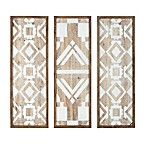 Madison Park Mandal 3-Panel Printed Wood Wall Art