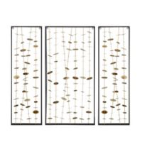 Madison Park Clement 3-Piece Metal Wall Art