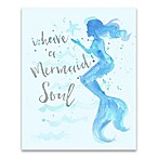 "Splash ""I Have a Mermaid Soul"" Canvas Wall Art"