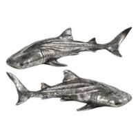 Renwil Shiver Hanging Statue Wall Art in Silver (Set of 2)