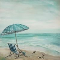 """Crinkle Chair Umbrella"" Canvas Wall Art"