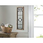 Art Wood/Metal Gated Window Mirror
