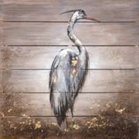 """Blue Heron"" Wood Wall Art"
