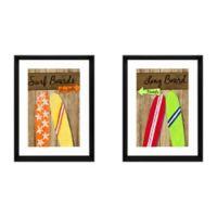 """Stylecraft """"Surf Boards"""" 2-Piece Framed Print Wall Art Set"""