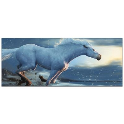 Metal Art Studio Running Horse 19 Inch X 48 Inch Plexiglass Wall Art