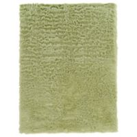 Linon Home Faux Sheepskin 1-Foot 8-Inch x 2-Foot 6-Inch Accent Rug in Green