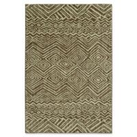 "Under the Canopy by Mohawk Home Shibori Chic Mnemba 5'3"" x 7'10"" Area Rug in Taupe"