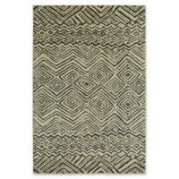 "Under the Canopy by Mohawk Home Shibori Chic Mnemba 5'3"" x 7'10"" Area Rug in Beige"