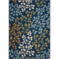 "Nourison Caribbean Indoor/Outdoor 9'3"" x 12'9"" Area Rug in Navy"
