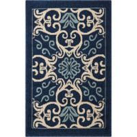 "Nourison Caribbean Indoor/Outdoor 2'6"" x 4' Area Rug in Navy"