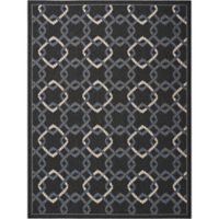 Nourison Caribbean Ropes 7'10 x 10'6 Indoor/Outdoor Area Rug in Charcoal