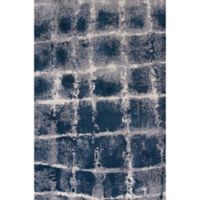 KAS Madison 7-Foot 7-Inch x 7-Foot 10-Inch Area Rug in Navy/Ivory