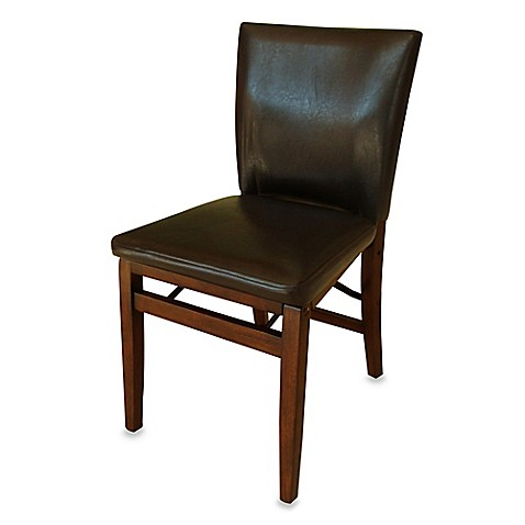 Harper Folding Chair In Dark Brown Bed Bath Amp Beyond