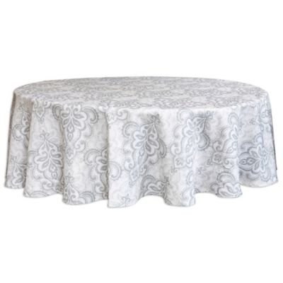 Bardwil Linens Carina 60 Inch Round Tablecloth