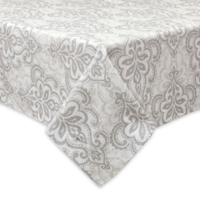Bardwil Linens Carina 70 Inch Square Indoor/Outdoor Tablecloth With  Umbrella Hole
