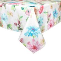 Bardwil Linens Floral Garden 52-Inch x 70-Inch Oblong Tablecloth