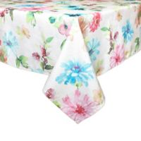 Bardwil Linens Floral Garden 70-Inch Square Tablecloth
