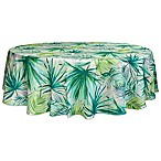 Bardwil Linens Palm 70-Inch Round Indoor/Outdoor Tablecloth with Umbrella Hole