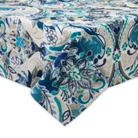 Destination Summer Tasha 60-Inch x 120-Inch Indoor/Outdoor Tablecloth with Umbrella Hole