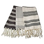 Village Fringed Kitchen Towels in Grey (Set of 3)