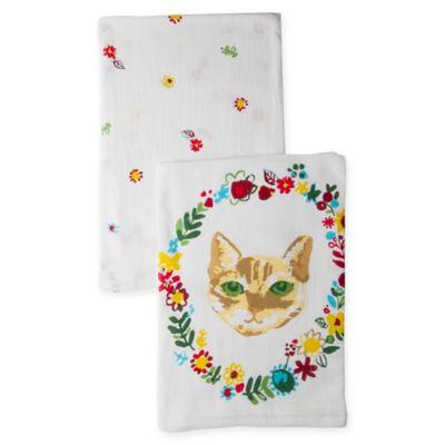 So Fancy Cat Flour Sack Kitchen Towels (Set Of 2)