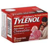 Tylenol® 24- Count Children's Pain and Fever 160 mg Chewable Tablets in Bubblegum Flavor