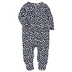 carter's® Size 3M Snap-Up Heart Sleep & Play Footie in Navy