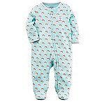 carter's® Newborn Rainbow Sleep and Play Zip-Up Footie in Aqua