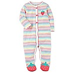 carter's® Size 6M Strawberry Sleep and Play Snap-Up Footie in Pink
