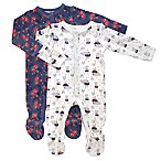 Rosie Pope Size 3-6M 2-Pack Bunny Floral Coverall
