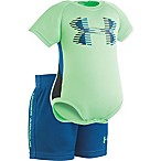 Under Armour® Size 3-6M 2-Piece Sportster Bodysuit and Short Set in Green